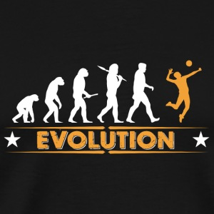 Volleyball Evolution - orange/weiss Tasker & rygsække - Herre premium T-shirt