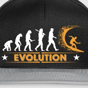 Surfing Evolution - orange/weiss Tee shirts - Casquette snapback