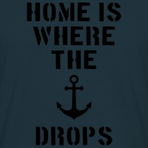home is where the anchor drops Anker Hamburg Pullover & Hoodies - Männer T-Shirt