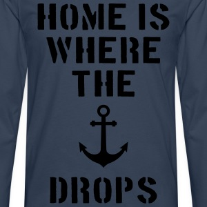 home is where the anchor drops Anker Hamburg Tee shirts - T-shirt manches longues Premium Homme
