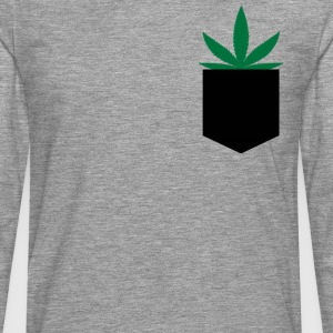 Pocket Marijuana Leaf T-Shirts - Men's Premium Longsleeve Shirt