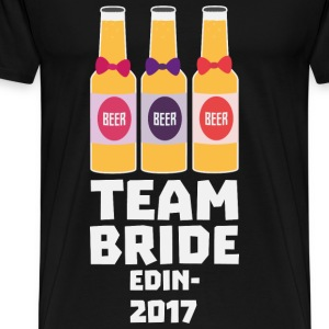 Team Bride Edinburgh 2017 Skd25 Baby Cap - Men's Premium T-Shirt