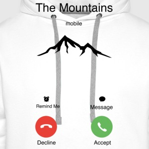 The Mountains T-Shirts - Men's Premium Hoodie