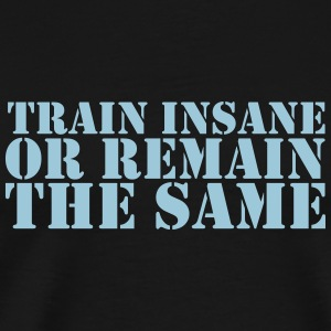 train insane Mokken & toebehoor - Mannen Premium T-shirt