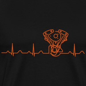 Late Shovel Heartbeat orange Hoodies & Sweatshirts - Men's Premium T-Shirt