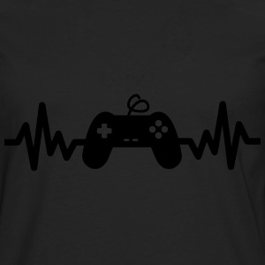 Gaming is life, geek, gamer , nerd t-shirt  - Männer Premium Langarmshirt