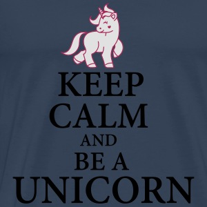 Keep calm be a unicorn Langarmshirts - Männer Premium T-Shirt