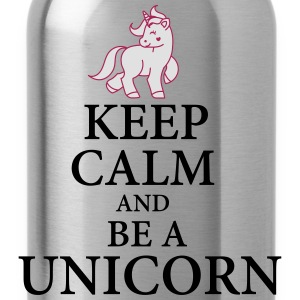 Keep calm be a unicorn Pullover & Hoodies - Trinkflasche