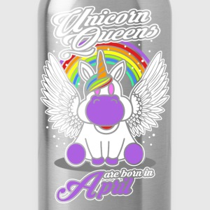 April - Birthday - Unicorn - Queen - EN Tröjor - Vattenflaska