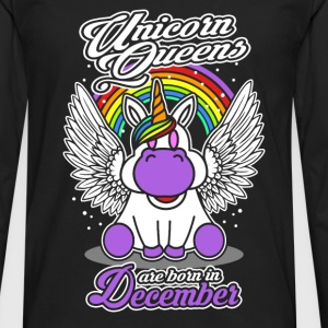 December - Birthday - Unicorn - Queen - EN Shirts - Men's Premium Longsleeve Shirt
