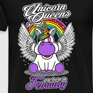 February - Birthday - Unicorn - Queen - EN Manga larga - Camiseta premium hombre