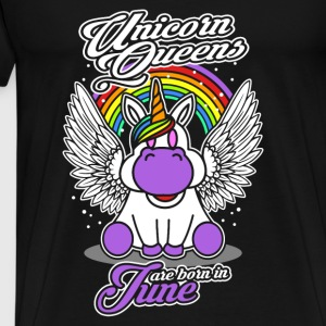 June - Birthday - Unicorn - Queen - EN Manga larga - Camiseta premium hombre