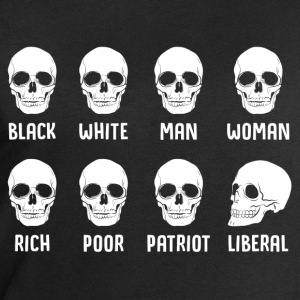 Black White Man Woman Rich Poor Patriot Liberal T-Shirts - Men's Sweatshirt by Stanley & Stella