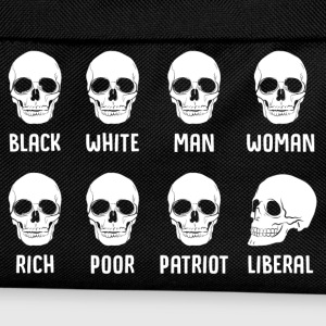 Black White Man Woman Rich Poor Patriot Liberal T-Shirts - Kids' Backpack