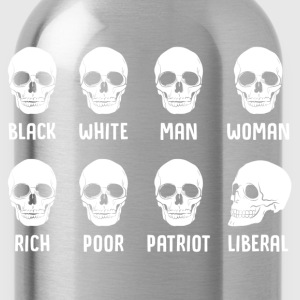 Black White Man Woman Rich Poor Patriot Liberal T-Shirts - Water Bottle