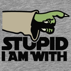 Stupid I am with FC Pullover & Hoodies - Männer Premium T-Shirt