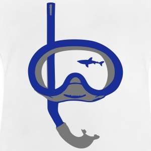 Snorkeling, diving, snorkeling mask and shark T-shirts - Baby T-shirt