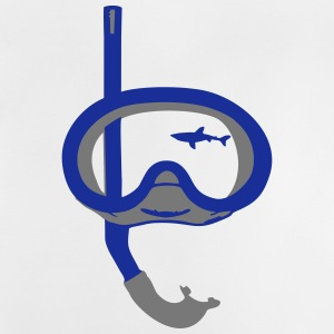 Snorkeling, diving, snorkeling mask and shark Magliette - Maglietta per neonato