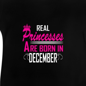 December - Birthday - Princess - 2 Shirts met lange mouwen - Baby T-shirt