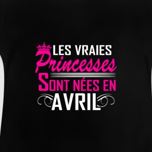 Avril - Anniversaire - Princess - 2 T-shirts - Baby T-shirt