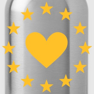 Europe heart, stars, I love EU, European Union T-S - Water Bottle