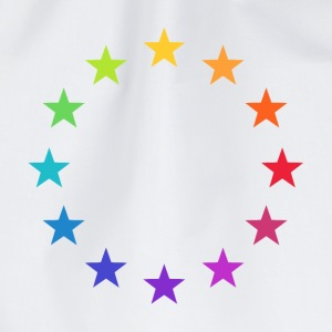 Rainbow Europe Stars, colorful EU, color,  T-Shirts - Drawstring Bag