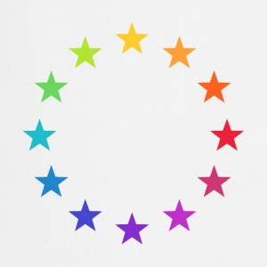 Rainbow Europe Stars, colorful EU, color,  T-Shirts - Cooking Apron