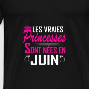Juin - Anniversaire - Princess - 2 Sports wear - Men's Premium T-Shirt