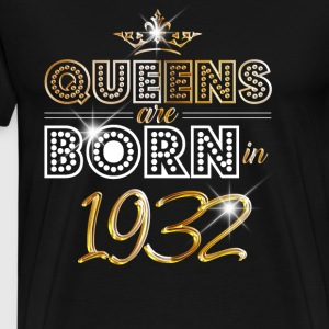 1932 - Birthday - Queen - Gold - EN Manga larga - Camiseta premium hombre