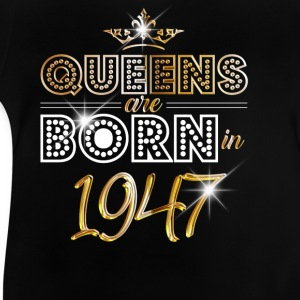 1947 - Birthday - Queen - Gold - EN Tee shirts - T-shirt Bébé