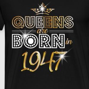 1947 - Birthday - Queen - Gold - EN Langærmede shirts - Herre premium T-shirt