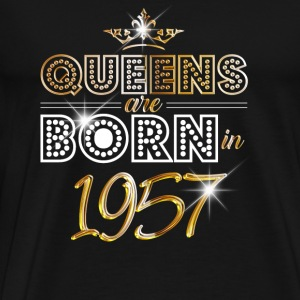 1957 - Birthday - Queen - Gold - EN Sports wear - Men's Premium T-Shirt