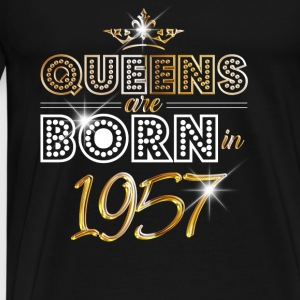 1957 - Birthday - Queen - Gold - EN Baby Bodysuits - Men's Premium T-Shirt
