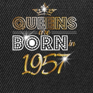 1957 - Birthday - Queen - Gold - EN Tops - Snapback Cap