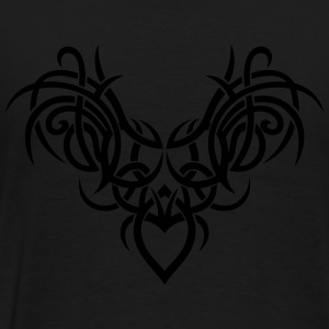 Tribal ornament with wings and heart. - Men's Premium T-Shirt
