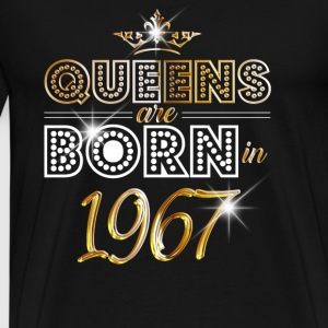 1967 - Birthday - Queen - Gold - EN Shirts met lange mouwen - Mannen Premium T-shirt