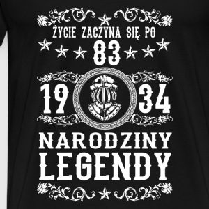 1934 - 83 lat - Legendy - 2017 - PL Tops - Männer Premium T-Shirt
