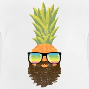 Pineapple Hipster With Beard And Sunglasses T-shirts - Baby-T-shirt