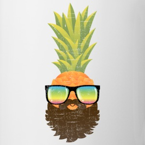 Pineapple Hipster With Beard And Sunglasses Tröjor - Mugg
