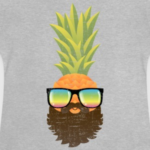 Pineapple Hipster With Beard And Sunglasses Long Sleeve Shirts - Baby T-Shirt