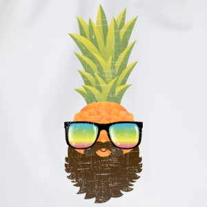 Pineapple Hipster With Beard And Sunglasses Magliette - Sacca sportiva