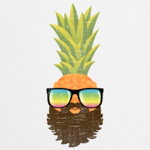 Pineapple Hipster With Beard And Sunglasses Magliette - Grembiule da cucina