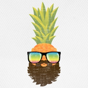 Pineapple Hipster With Beard And Sunglasses Long sleeve shirts - Baseball Cap