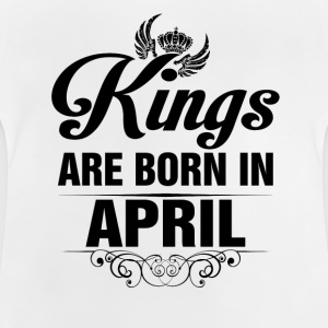 Kings Are Born In April Tshirt Shirts - Baby T-Shirt