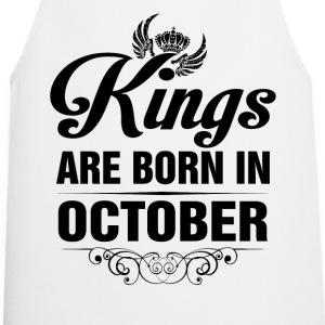 Kings Are Born In October Tshirt Shirts - Cooking Apron