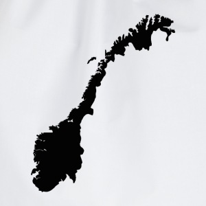 Map of Norway - Norwegian Map T-Shirts - Drawstring Bag