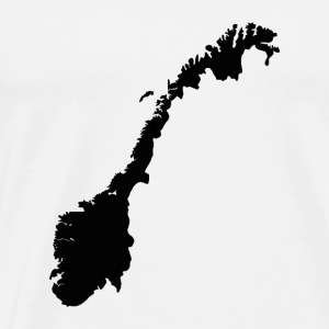 Map of Norway - Norwegian Map Hoodies & Sweatshirts - Men's Premium T-Shirt