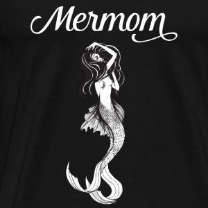 Mermaid + Mother = Mermom | Cool Mother's Day Gift Gensere - Premium T-skjorte for menn