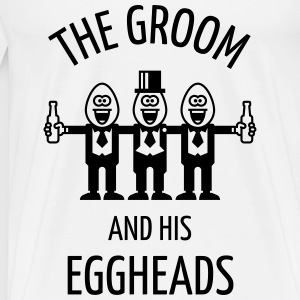 The Groom And His Eggheads (Stag Party / 1C) Sports wear - Men's Premium T-Shirt