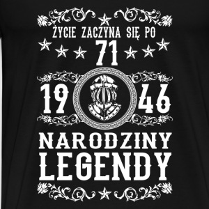 1946- 71 lat - Legendy - 2017 - PL Sports wear - Men's Premium T-Shirt
